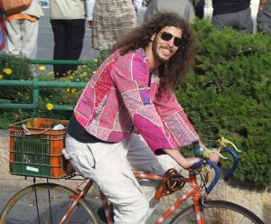 hippy-on-bike